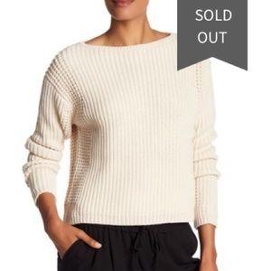 Like new Vince chunky knit beige cream sweater